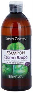 Barwa Herbal Black Turnip šampón proti lupinám pre oslabené vlasy
