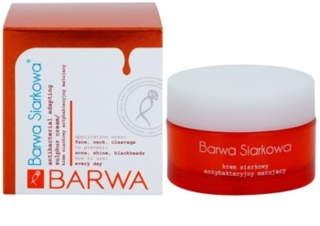 Barwa Sulphur zmatňujúci krém pre mastnú a problematickú pleť