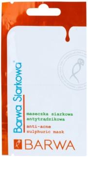 Barwa Sulphur normalizačná maska proti akné
