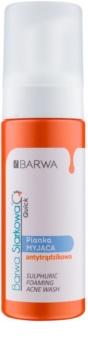 Barwa Sulphur Quick tisztító hab a problémás bőrre