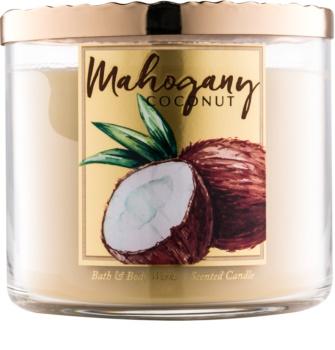 Bath & Body Works White Barn Mahogany Coconut Geurkaars 411 gr