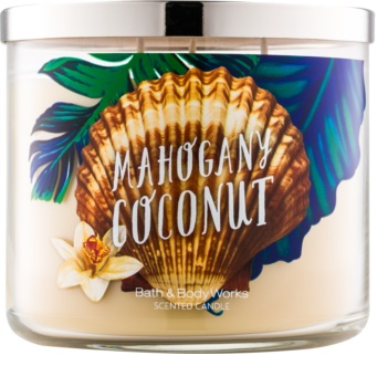 Bath & Body Works White Barn Mahogany Coconut dišeča sveča  411 g