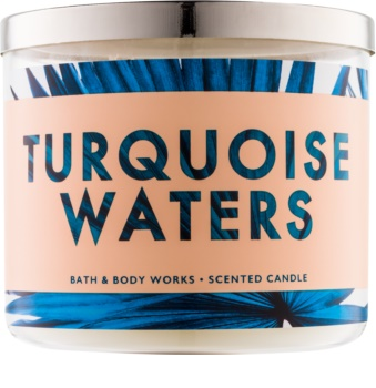 Bath & Body Works Turquoise Waters vonná sviečka 411 g