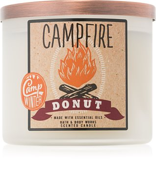 Bath & Body Works Camp Winter Campfire Donut ароматизована свічка  411 гр
