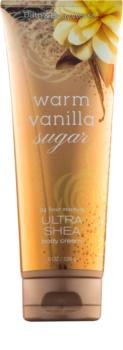 Bath & Body Works Warm Vanilla Sugar krem do ciała dla kobiet 226 g z masłem shea