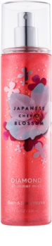 Bath & Body Works Japanese Cherry Blossom Body Spray for Women 236 ml glittering