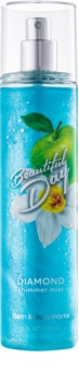 Bath & Body Works Beautiful Day pršilo za telo za ženske 236 ml bleščeč