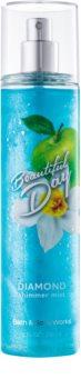 Bath & Body Works Beautiful Day testápoló spray nőknek 236 ml csillogó
