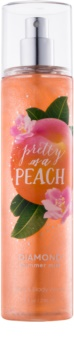 Bath & Body Works Pretty as a Peach spray corporel pailleté pour femme 236 ml