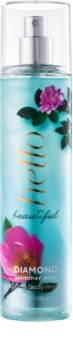 Bath & Body Works Hello Beautiful Body Spray for Women 236 ml  with Glitter