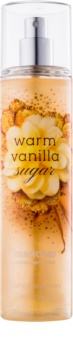 Bath & Body Works Warm Vanilla Sugar spray corporel pour femme 236 ml pailleté