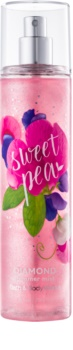 Bath & Body Works Sweet Pea spray corporel pour femme 236 ml pailleté