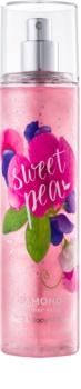 Bath & Body Works Sweet Pea spray do ciała dla kobiet 236 ml z błyszczącymi cząsteczkami