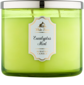 Bath & Body Works White Barn Eucalyptus Mint illatos gyertya  411 g