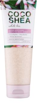 Bath & Body Works Cocoshea White Tea tělový peeling pro ženy 226 g