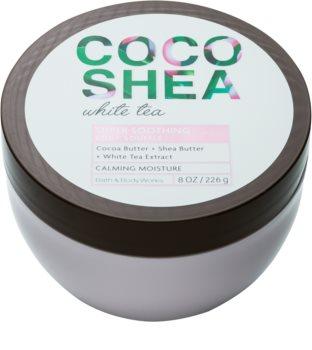 Bath & Body Works Cocoshea White Tea tělový krém pro ženy 226 g