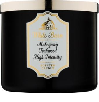 Bath & Body Works White Barn Mahogany Teakwood High Intensity Duftkerze  411 g