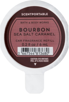 Bath & Body Works Bourbon Sea Salt Caramel parfum pentru masina 6 ml Refil