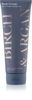 Bath & Body Works Birch & Argan telový krém pre ženy 226 g