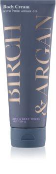 Bath & Body Works Birch & Argan tělový krém pro ženy 226 g