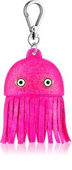 Bath & Body Works PocketBac Pink Jellyfish ambalaj strălucitor din silicon, pentru gelul antibacterian
