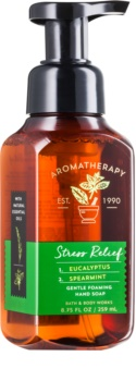 Bath & Body Works Stress Relief Eukalyptus Spearmint hab szappan kézre