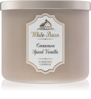 Bath & Body Works White Barn Cinnamon Spiced Vanilla vonná sviečka