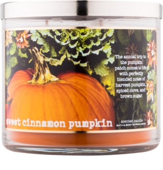 Bath & Body Works Sweet Cinnamon Pumpkin vonná svíčka 411 g