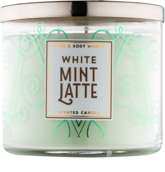 Bath & Body Works White Mint Latte vonná svíčka 411 g
