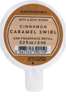 Bath & Body Works Cinnamon Caramel Swirl Auto luchtverfrisser  6 ml Vervangende Vulling