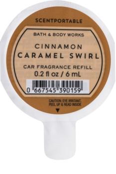 Bath & Body Works Cinnamon Caramel Swirl odświeżacz do samochodu 6 ml napełnienie