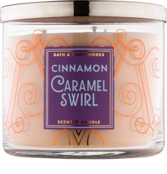 Bath & Body Works Cinnamon Caramel Swirl dišeča sveča  411 g