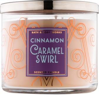 Bath & Body Works Cinnamon Caramel Swirl świeczka zapachowa  411 g