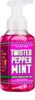 Bath & Body Works Twisted Peppermint hab szappan kézre