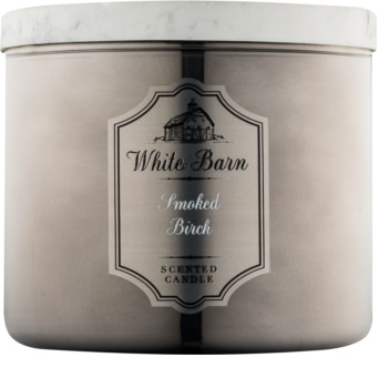 Bath & Body Works White Barn Smoked Birch candela profumata 411 g
