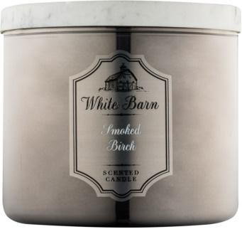 Bath & Body Works White Barn Smoked Birch lumanari parfumate  411 g