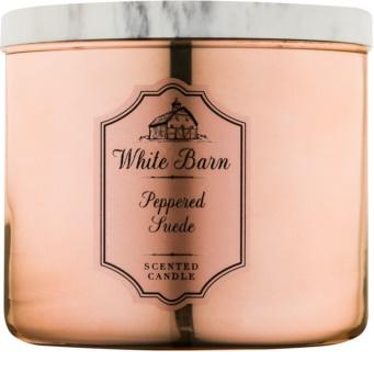 Bath & Body Works White Barn Peppered Suede świeczka zapachowa  411 g