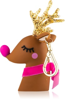 Bath & Body Works PocketBac Light-Up Reindeer svietiaci silikónový obal na antibakteriálny gél