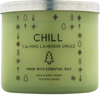 Bath & Body Works Chill: Calming Lavender Spruce Duftkerze  411 g