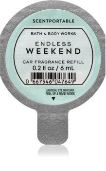 Bath & Body Works Endless Weekend Autoduft 6 ml Ersatzfüllung