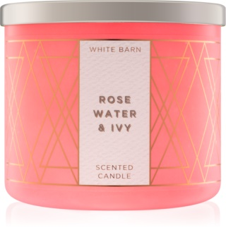 Bath & Body Works Rose Water & Ivy vonná sviečka 411 g