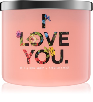Bath & Body Works Georgia Peach vonná sviečka 411 g limitovaná edícia I Love You