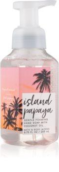 Bath & Body Works Island Papaya hab szappan kézre