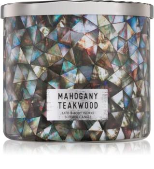 Bath & Body Works White Barn Mahogany Teakwood candela profumata