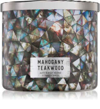 Bath & Body Works White Barn Mahogany Teakwood vonná sviečka