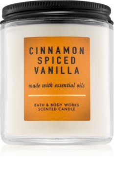 Bath & Body Works Cinnamon Spiced Vanilla Geurkaars 198 gr I.
