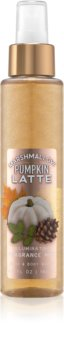 Bath & Body Works Marshmallow Pumpkin Latte spray corporel pour femme 146 ml pailleté