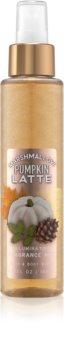 Bath & Body Works Marshmallow Pumpkin Latte telový sprej trblietavý pre ženy