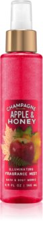 Bath & Body Works Champagne Apple & Honey spray corporel pour femme 146 ml pailleté