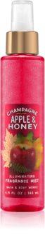 Bath & Body Works Champagne Apple & Honey telový sprej pre ženy 146 ml trblietavý